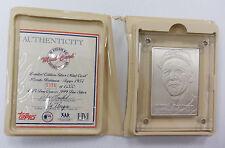 Brooks Robinson Orioles Fine Silver 999 Topps Baseball Mint Card Highland Mint