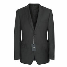Z ZEGNA dark gray wool mohair zzegna slim City suit jacket blazer 40/50 L NEW