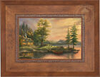 Thomas Kinkade Studios Morning Light Lake 12 x 18 LE S/N Canvas Framed