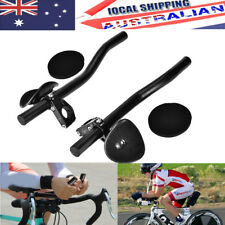 Alloy Triathlon Aero Rest Handle Bar Clip On Bars Road Mountain Bike Bicycle AU