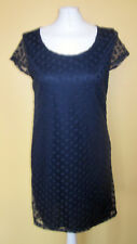 Next Short Sleeves Navy blue Lace Dress Size 12