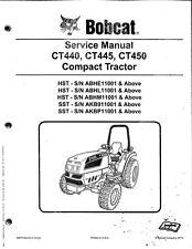 Bobcat CT440 CT450 CT450 Compact Tractor Service Manual PN: 698707enus
