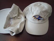 BALTIMORE RAVENS  NEW GOLF POLO KHAKI TAN DEADSTOCK HAT CAP VERO STRAPBACK