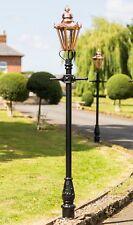 USED Ex-Display 2.3m Copper Hexagonal Victorian Garden Lamp Post or Street Light