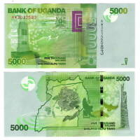 UGANDA 5000 Shillings (2015) P-51d UNC Banknote