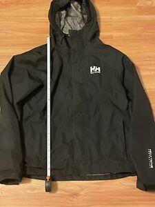 Helly Hansen light weight Black Rain Jacket , size Small S