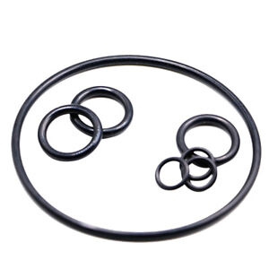10pcs O Rings Black Metric Rubber 6mm to 250mm Outer Section 2.4mm Washer Seal