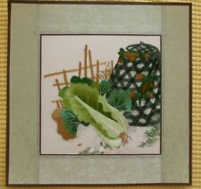 Chinese Hand embroidered suzhou Embroidery Brocade Mounted Artwork:Vegetable
