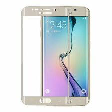 Full Curved Tempered Glass LCD Screen Protector Gold 3D Samsung Galaxy S6 Edge