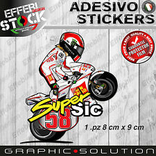 Adesivi Sticker Mascotte cartoon SIMONCELLI SIC 58 SUPERSIC MOTOGP TOP QUALITY!