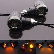 2x Motorcycle 12V LED Amber Red Light Rear Tail Turn Signal light Brake Blinker
