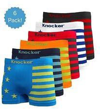 6 Mens Microfiber Boxer Briefs #MS36 Underwear Compression Knocker One Size