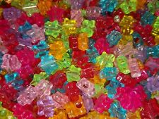 100 Transparent Mix Stars Novelty Pony Beads 10mm BUY 3 FOR 2