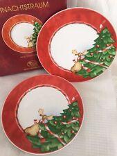 Hutschenreuther Weihnachtstraum set 2 piatti tondi Natale - porcellana 21,5 cm