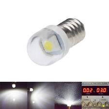 1 X WHITE FLASHLIGHT 2835 LED LAMP SCREW 3 VOLT DC BICYCLE TORCH E10 MES BULB