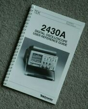 Tektronix 2430A User Reference Guide, 070-6339-02 Paper manual