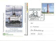 Rare Sos Kinderdorf First Day Card Deutsche Schiffspost Eisbrecher Stettin