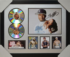 50 CENT SIGNED MEMORABILIA FRAMED 2 CD LIMITED EDITION 2016 #A