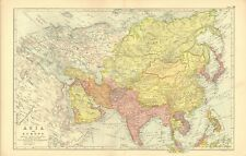 1901 ANTIQUE MAP - ASIA AND EUROPE