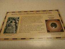 SOTER MEGAS BRONZE TETRADRACHM COIN-1st CENTURY KUSHAN EMPIRE CIRCA80-90 AD