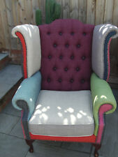 Unique Patchwork Chesterfield Armchair