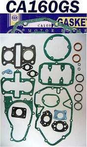 HONDA CA160 CB160 CL160 COMPLETE ENGINE GASKET SET 1965-1969