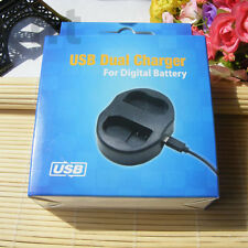 USB Dual NB-2LH Battery charger for Canon Rebel XT XTi EOS 350D 400D MD120
