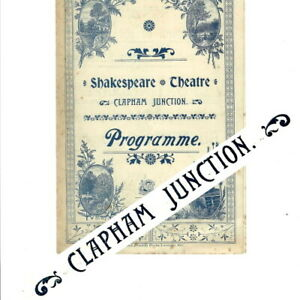 1897 Clapham Junction Shakespeare Theatre programme Sporting Life Terriss
