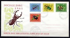 Dutch New Guinea - 1961 Insects / Beetles - Mi. 69-72 clean FDC