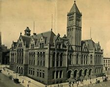 Double Postcard of Post Office in Omaha, Nebraska - circa 1912