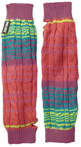 Muk Luks Women's Candy Coated Rainbow Multi Striped Arm Warmers With Thumb hole