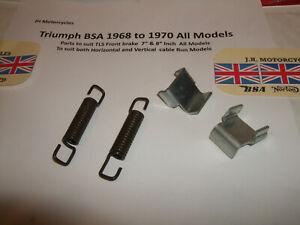 z Triumph BSA TLS 4 pce Twin Leader Brake shoe kit 37-2026+37-0135 €FB JLY21 #2