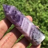 1pc natural dream amethyst obelisk quartz crystal wand point tower gem healing