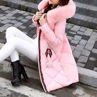 Mode Hiver Parka pour Femme Col de fourrure Veste matelassée bain avec capuchon