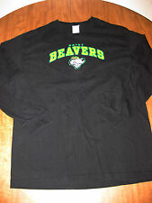 HAIRY BEAVERS longsleeves T shirt lrg sports spoof tee cartoon mascot humor