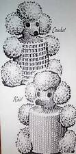 5223 Vintage POODLE COVER Pattern to Crochet or Knit (Reproduction)