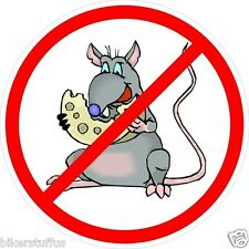 NO RATS CHEESE HARD HAT STICKER HELMET STICKER LAPTOP STICKER TOOLBOX STICKER