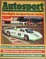Autosport 31/1/85* 1984 SPORTSCAR RACING REVIEW with PORSCHE 956 POSTER