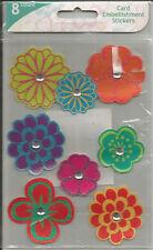 Colorbok Glitter Floral Embellishment Stickers 8pc