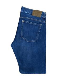 Original H&M Slim Fit Low Waist Tapered Leg Blue Stretch Jeans W34 L34 ES 8027
