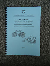 Ersatzteilkatalog Schweizer Armee Fahrrad 05 - Militärvelo 05 & 2 Griffe -Swiss
