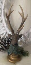 Reno Alce Ciervo de Pie Braun Navidad Shabby Vintage Decoración 33cm