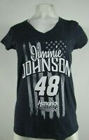Jimmie Johnson #48 NASCAR Women's Touch Dark Gray V-Neck Shirt