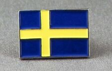 Metal Enamel Pin Badge Brooch Flag Sweden Swede Swedish Flag National Flag