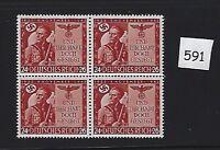 MNH stamp Block / WWII Germany 1943 / 20th anniversary Munich Putsch / MNH