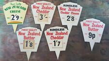 More details for vintage delicatessen shop display signs cheese
