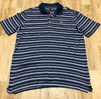 Masters Collection Men's 100% Pima Cotton Golf Polo Shirt Navy Blue Size XL