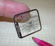 Miniature Stainless Steel Spider Web w/Spiders (OVAL): DOLLHOUSE 1/12
