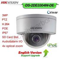 Hikvision 3MP 4XOptical Zoom POE IP66  DWDR ONVIF PTZ Dome Camera DS-2DE3304W-DE