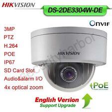 Hikvision English Version DS-2DE3304W-DE 3MP DWDR  4XPOE IP66 P&P PTZ DomeCamera
